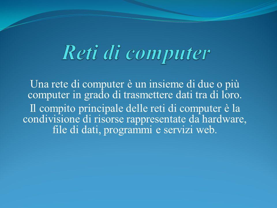 Una rete di computer è un insieme di due o più computer in grado di trasmettere dati tra di loro. Il compito principale delle reti di computer è la co