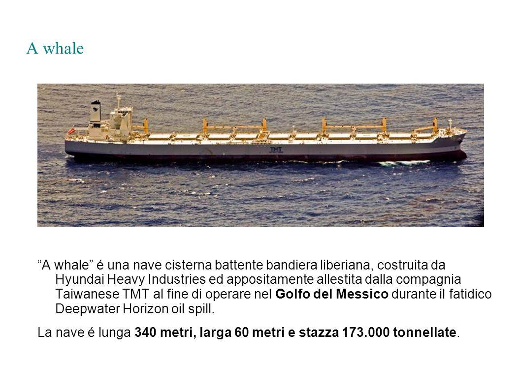 A whale A whale é una nave cisterna battente bandiera liberiana, costruita da Hyundai Heavy Industries ed appositamente allestita dalla compagnia Taiw