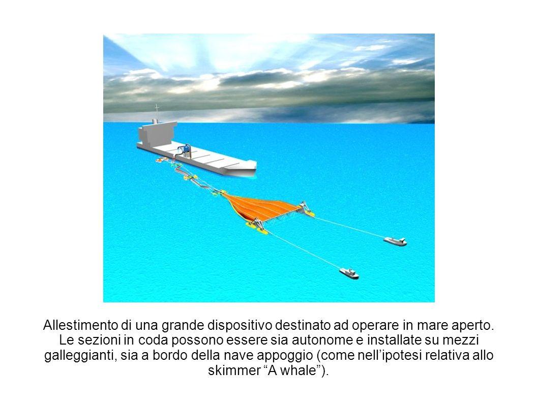 Allestimento di una grande dispositivo destinato ad operare in mare aperto. Le sezioni in coda possono essere sia autonome e installate su mezzi galle