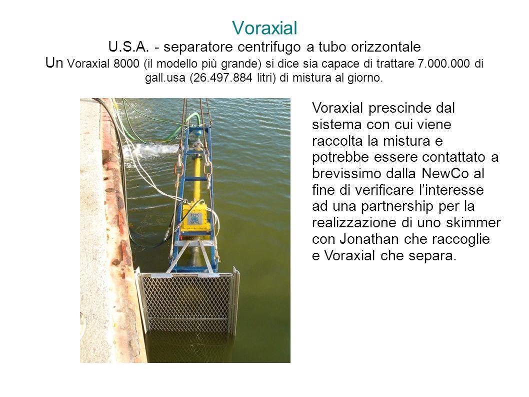 Voraxial U.S.A. - separatore centrifugo a tubo orizzontale Un Voraxial 8000 (il modello più grande) si dice sia capace di trattare 7.000.000 di gall.u