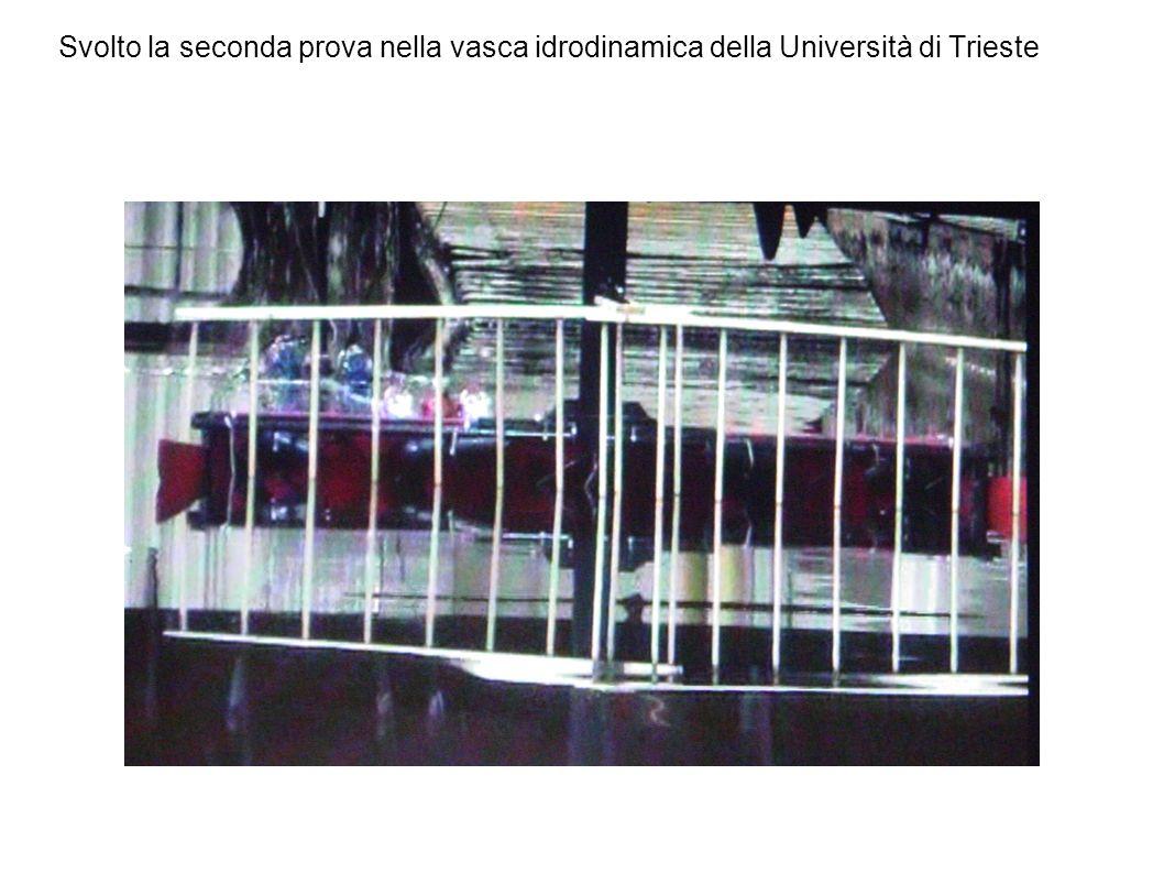 Svolto la seconda prova nella vasca idrodinamica della Università di Trieste