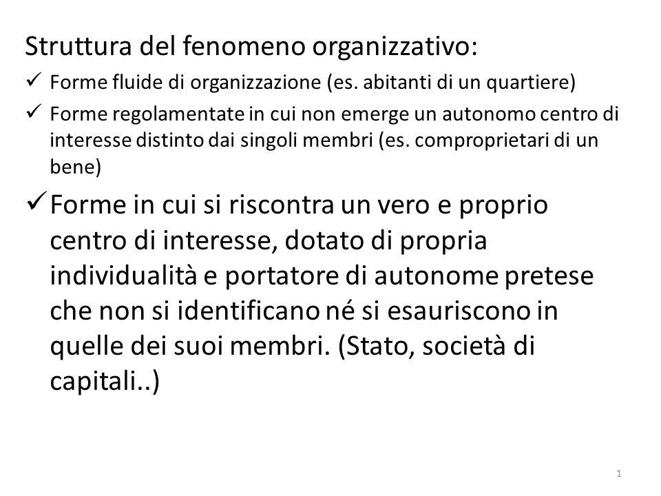Struttura del fenomeno organizzativo: Forme fluide di organizzazione (es.