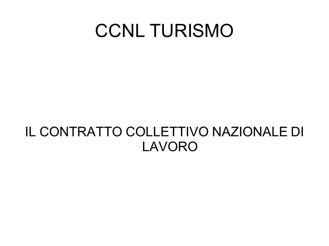 CCNL TURISMO IL CONTRATTO COLLETTIVO NAZIONALE DI LAVORO