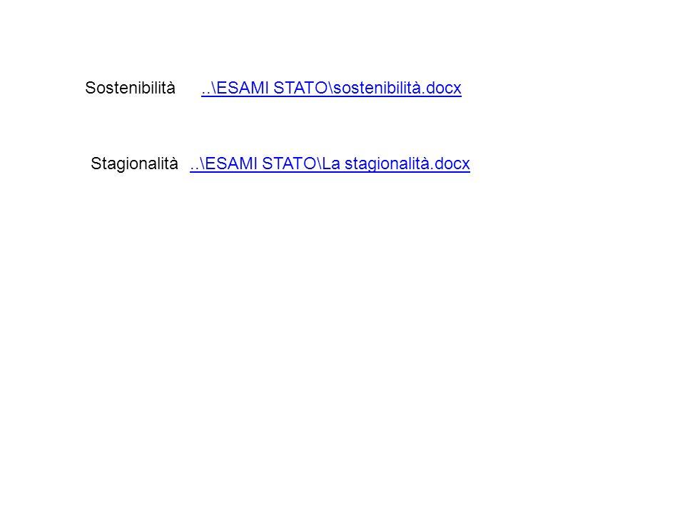 Sostenibilità..\ESAMI STATO\sostenibilità.docx..\ESAMI STATO\sostenibilità.docx Stagionalità..\ESAMI STATO\La stagionalità.docx..\ESAMI STATO\La stagi