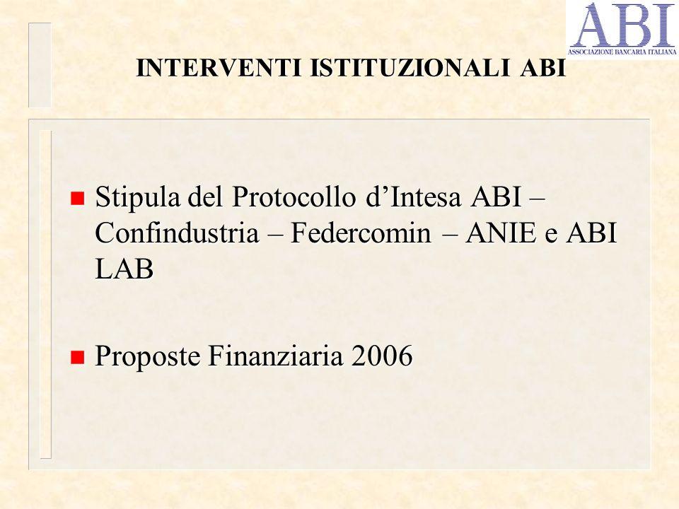 Il Protocollo è stato stipulato il 14 dicembre 2004 e prevede delle linee – guida volte alla concessione di finanziamenti in favore delle PMI sulla base dellanalisi di merito di credito svolta dalle banche nei confronti del venditore/fornitore di tecnologie.