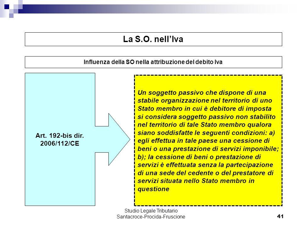 41 Un soggetto passivo che dispone di una stabile organizzazione nel territorio di uno Stato membro in cui è debitore di imposta si considera soggetto