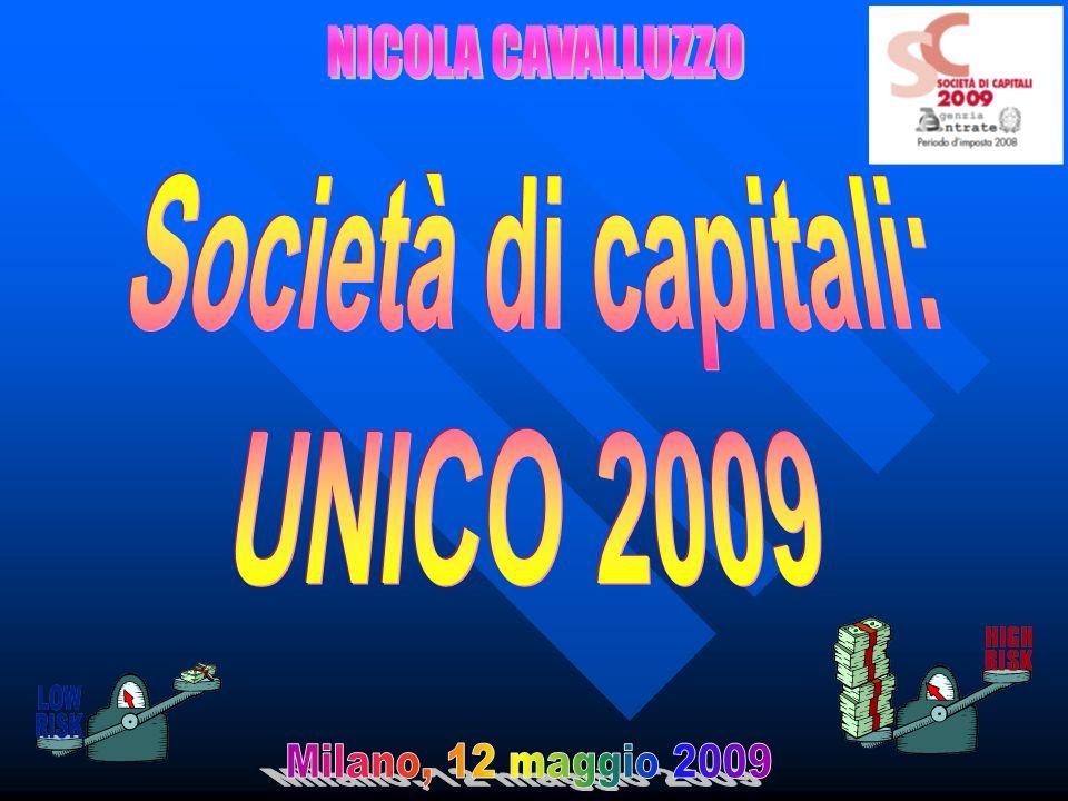 12 maggio 2009Nicola Cavalluzzo22 Un esempio… INTERESSI PASSIVI INTERESSI passivi rilevanti: