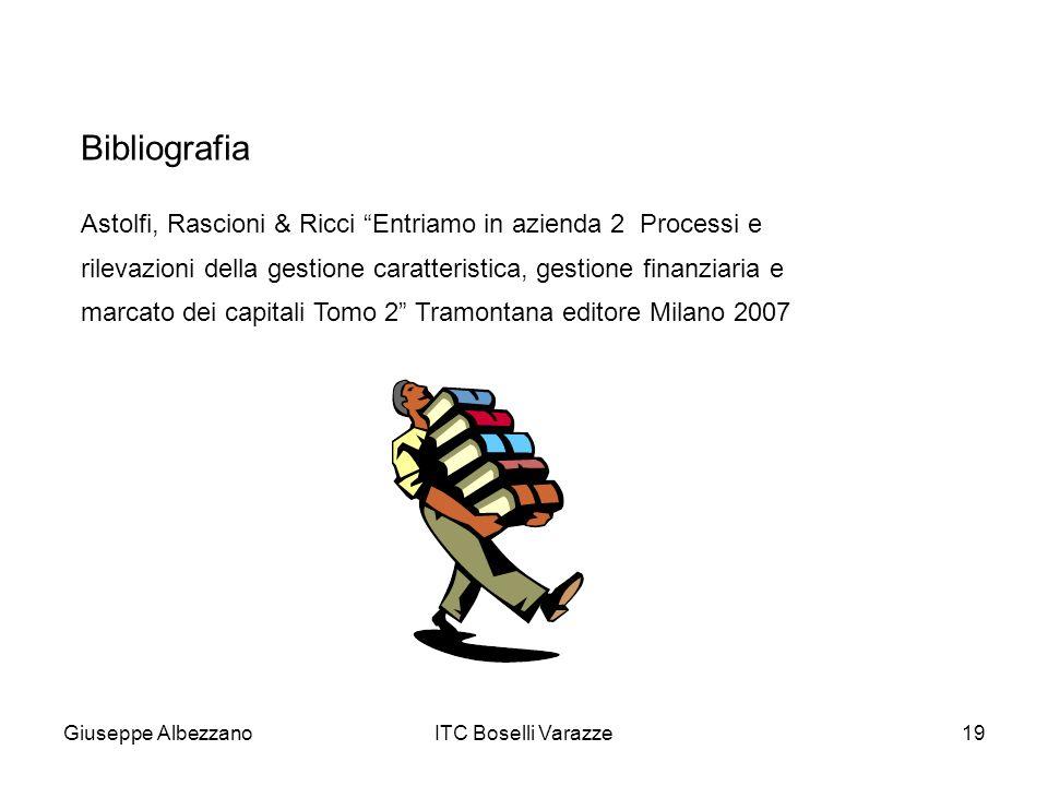 Giuseppe AlbezzanoITC Boselli Varazze19 Astolfi, Rascioni & Ricci Entriamo in azienda 2 Processi e rilevazioni della gestione caratteristica, gestione