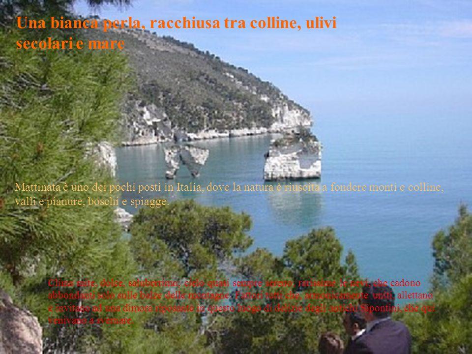 Una bianca perla, racchiusa tra colline, ulivi secolari e mare Mattinata è uno dei pochi posti in Italia, dove la natura è riuscita a fondere monti e