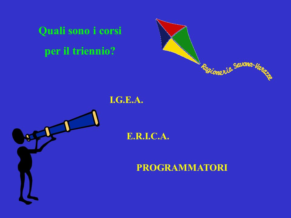 Quali sono i corsi per il triennio? I.G.E.A. E.R.I.C.A. PROGRAMMATORI