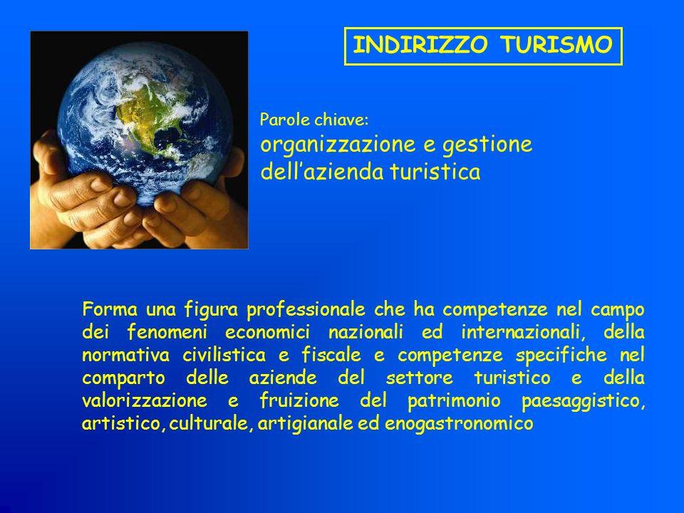 INDIRIZZO TURISMO Forma una figura professionale che ha competenze nel campo dei fenomeni economici nazionali ed internazionali, della normativa civil