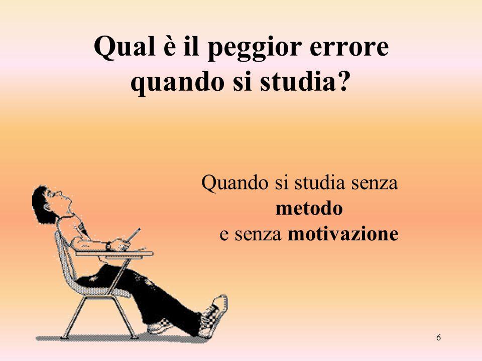 Il metodo di studio - Cristina Bottino7 Che cosè la motivazione.