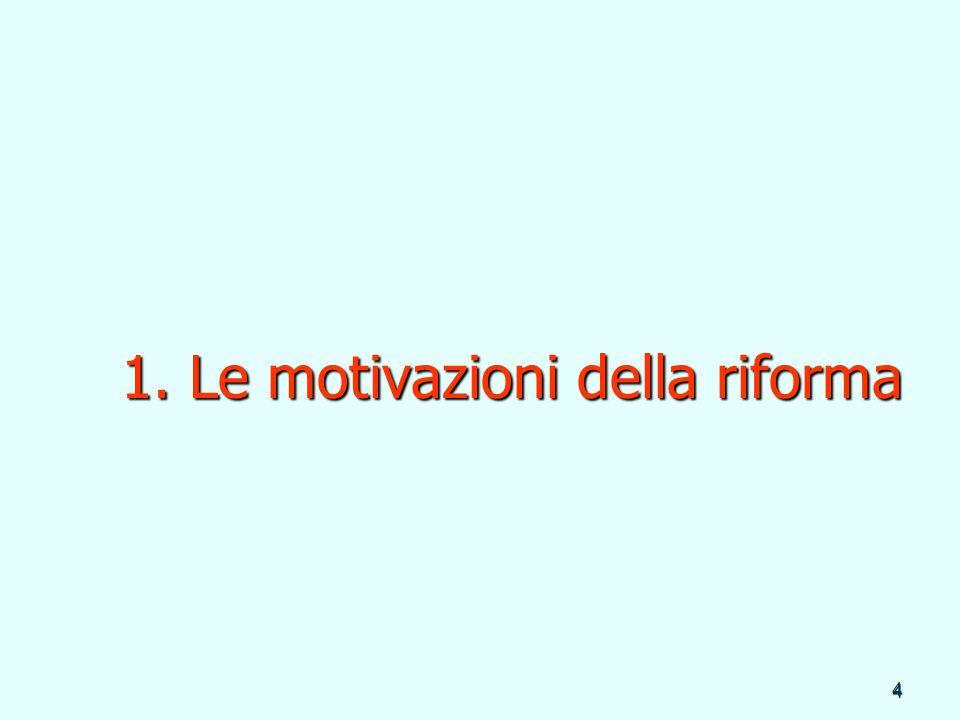 4 1. Le motivazioni della riforma