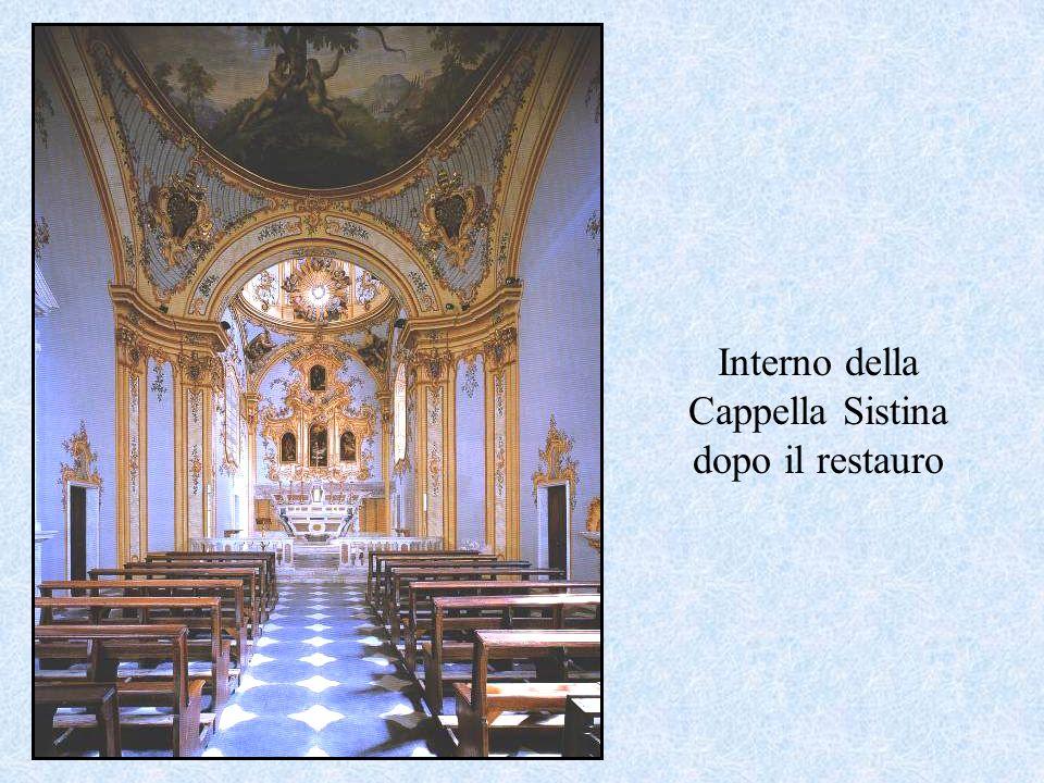 Interno della Cappella Sistina dopo il restauro