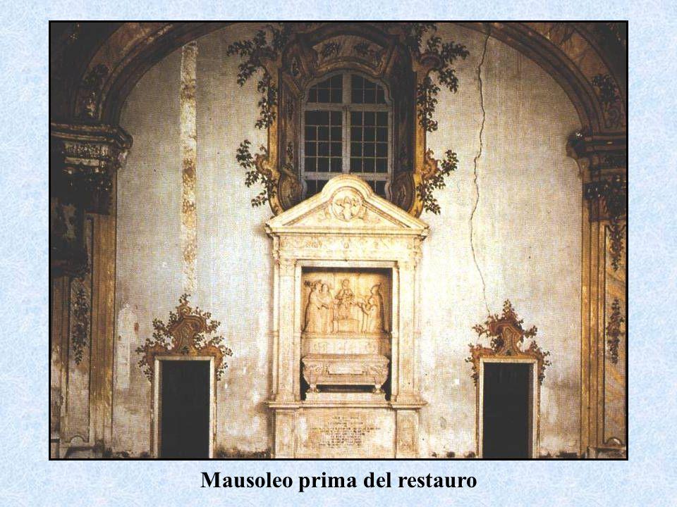 Mausoleo prima del restauro