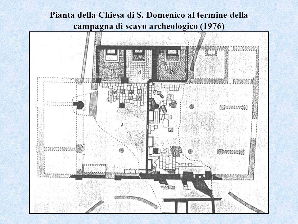 Pianta della Chiesa di S. Domenico al termine della campagna di scavo archeologico (1976)