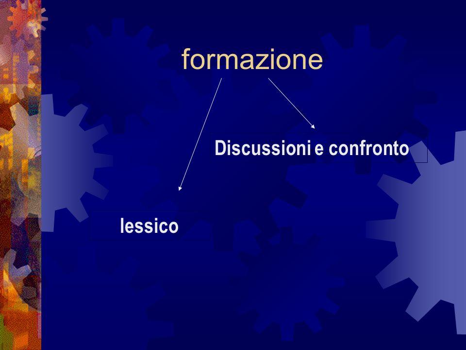 formazione lessico Discussioni e confronto