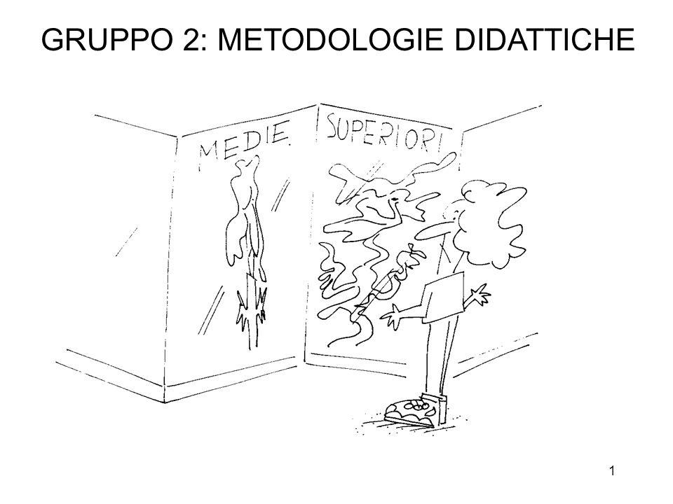 1 GRUPPO 2: METODOLOGIE DIDATTICHE