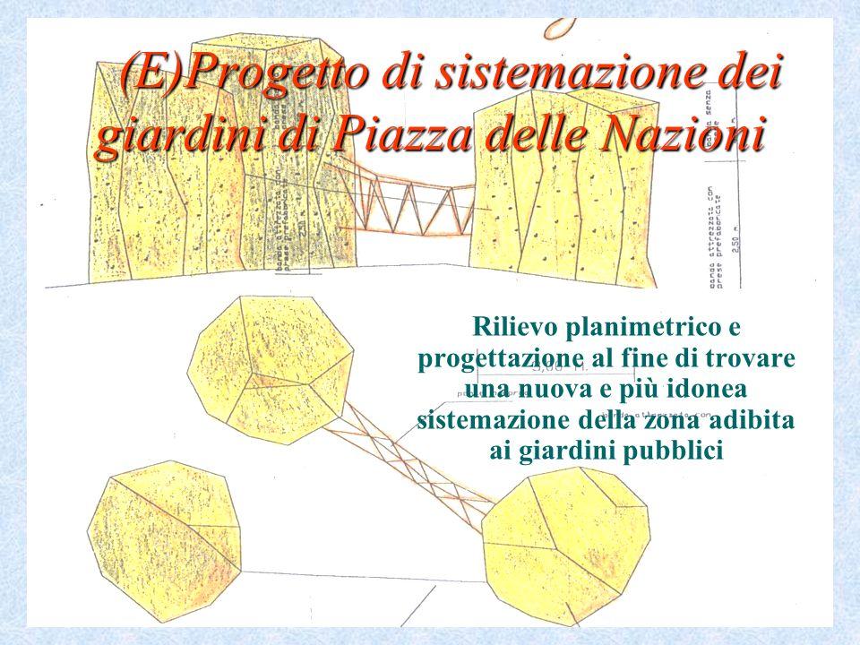 (E)Progetto di sistemazione dei giardini di Piazza delle Nazioni (E)Progetto di sistemazione dei giardini di Piazza delle Nazioni Rilievo planimetrico