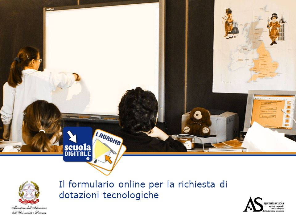 Il formulario online per la richiesta di dotazioni tecnologiche