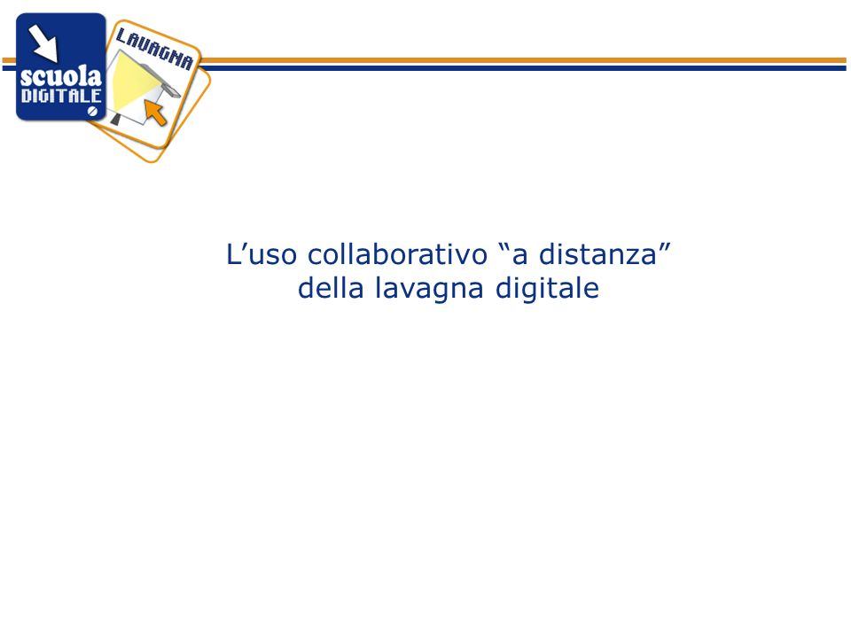 Luso collaborativo a distanza della lavagna digitale