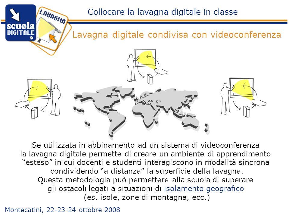 Se utilizzata in abbinamento ad un sistema di videoconferenza la lavagna digitale permette di creare un ambiente di apprendimento esteso in cui docent