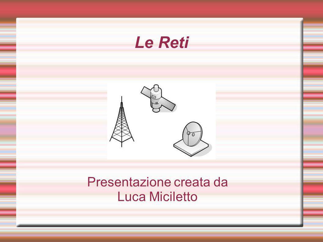 Le Reti Presentazione creata da Luca Miciletto