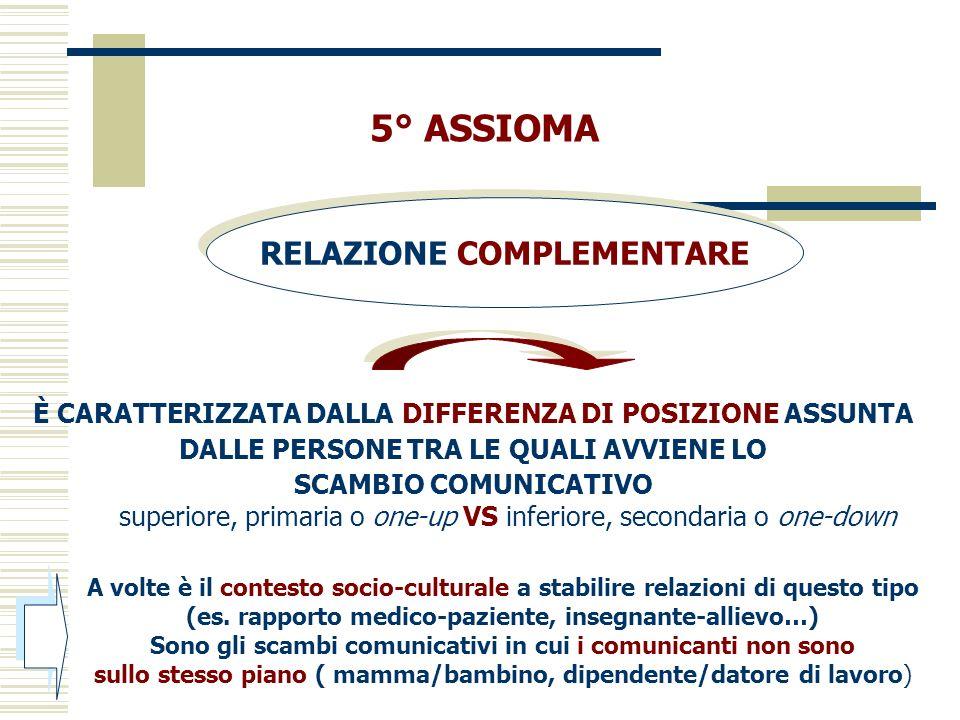 A volte è il contesto socio-culturale a stabilire relazioni di questo tipo (es. rapporto medico-paziente, insegnante-allievo…) Sono gli scambi comunic