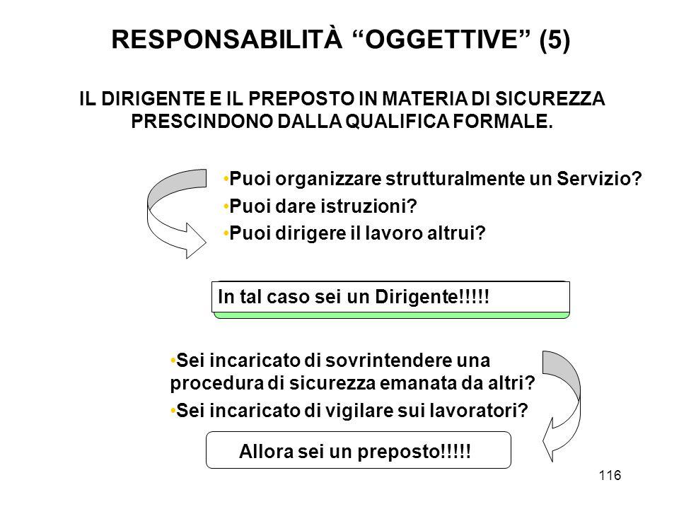 116 IL DIRIGENTE E IL PREPOSTO IN MATERIA DI SICUREZZA PRESCINDONO DALLA QUALIFICA FORMALE.