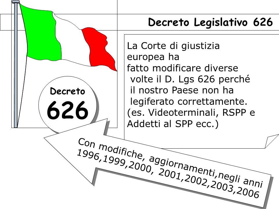 33 La Corte di giustizia europea ha fatto modificare diverse volte il D.