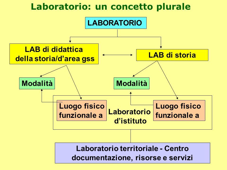 LABORATORIO LAB di didattica della storia/darea gss LAB di storia Modalità Luogo fisico funzionale a Modalità Luogo fisico funzionale a Laboratorio di