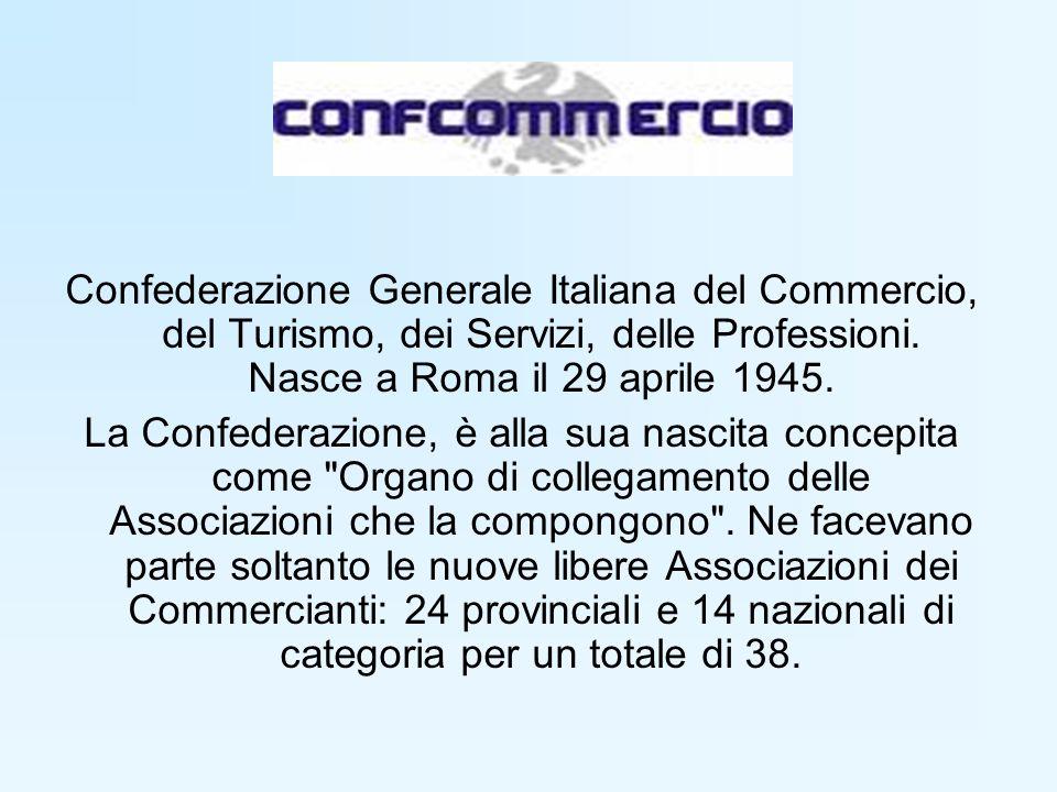 Confederazione Generale Italiana del Commercio, del Turismo, dei Servizi, delle Professioni.