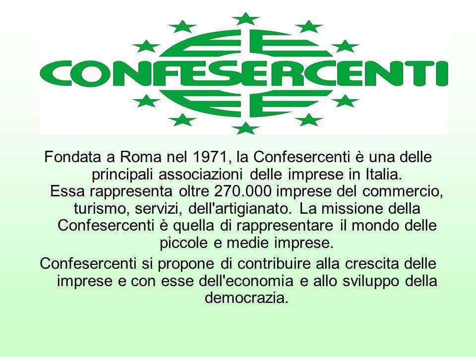 Fondata a Roma nel 1971, la Confesercenti è una delle principali associazioni delle imprese in Italia.