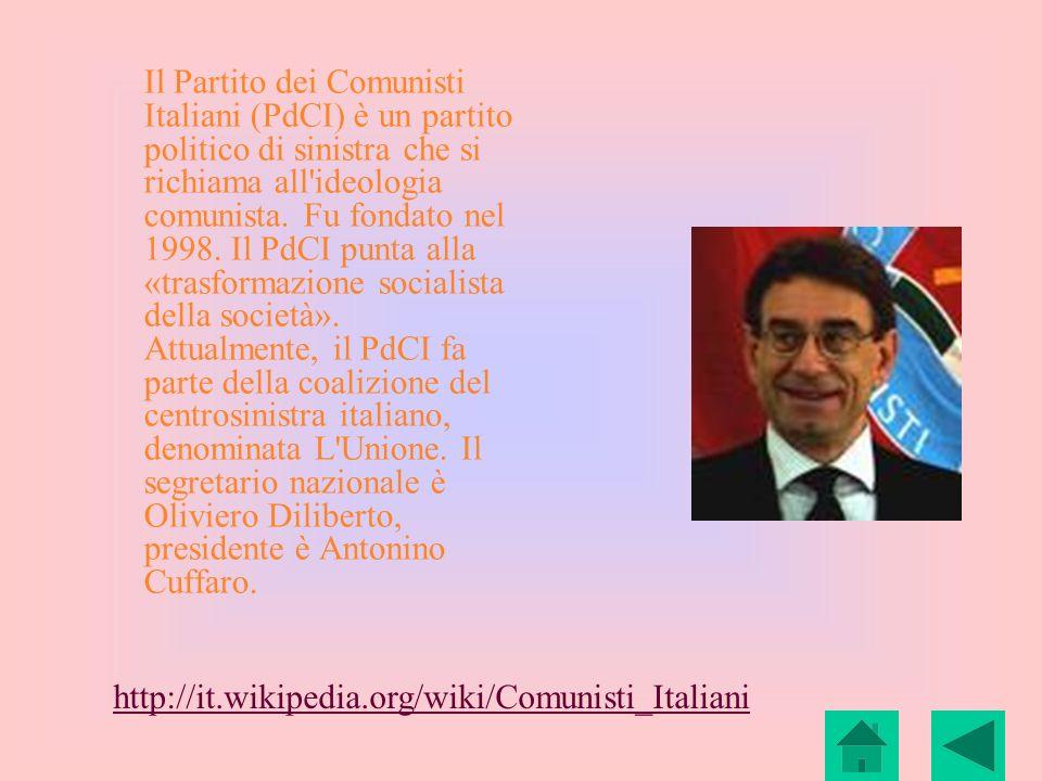 Il Partito dei Comunisti Italiani (PdCI) è un partito politico di sinistra che si richiama all'ideologia comunista. Fu fondato nel 1998. Il PdCI punta