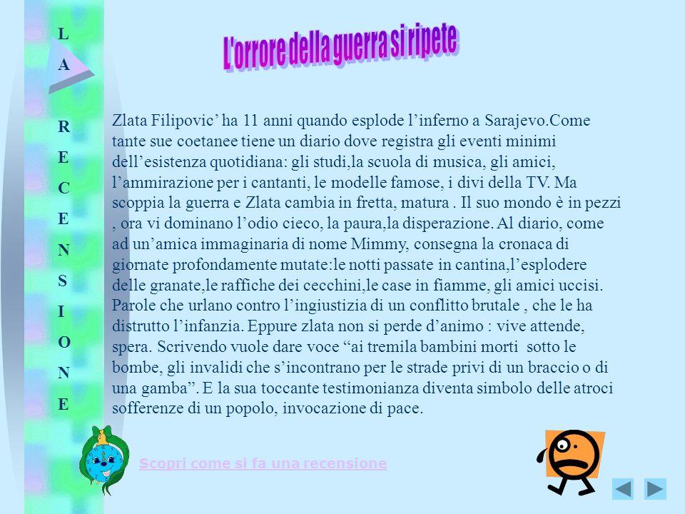 Zlata Filipovic ha 11 anni quando esplode linferno a Sarajevo.Come tante sue coetanee tiene un diario dove registra gli eventi minimi dellesistenza qu