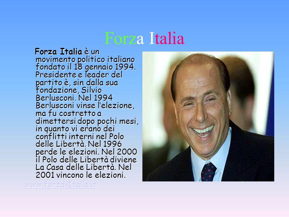 Simbolo di forza Italia con a capo Silvio Berlusconi www.forzaitalia.it