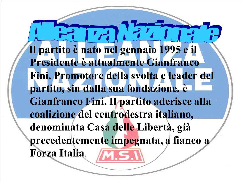 Simbolo dellAlleanza Nazionale con a capo Gianfranco Fini