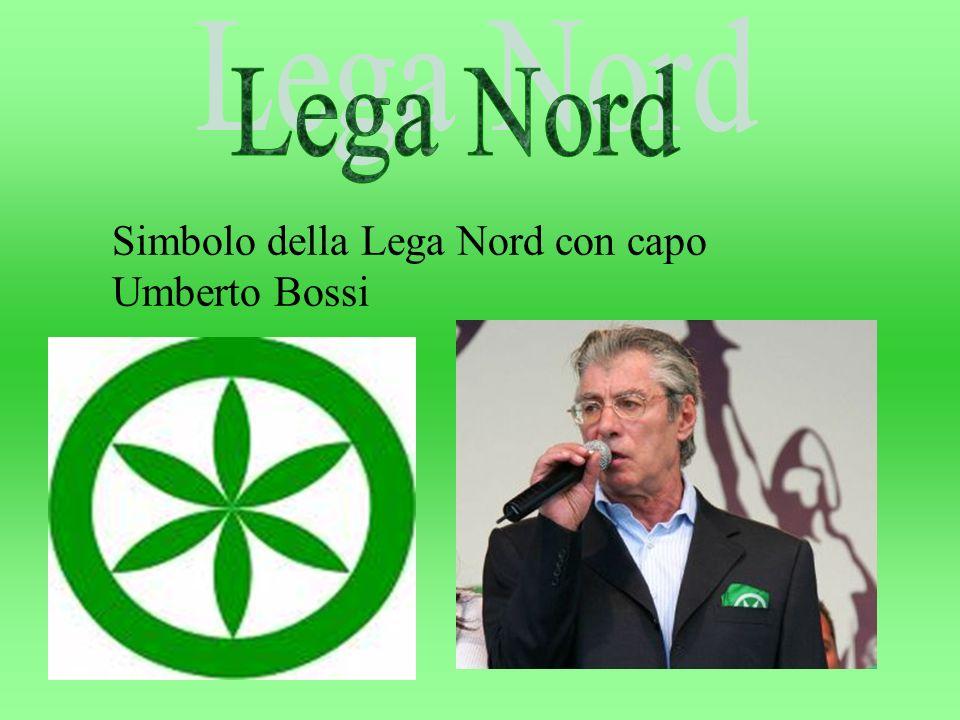 Simbolo della Lega Nord con capo Umberto Bossi