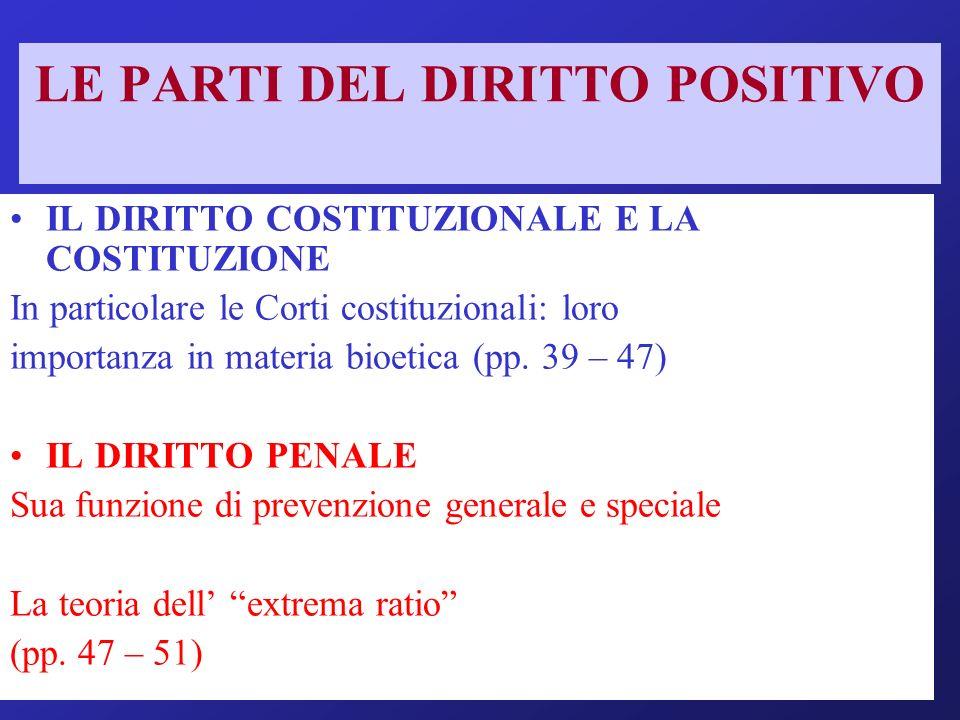 IL POTERE DEL LEGISLATORE Costitutivo-decisionale (organizzazioni collettive) Ricognitivo-dichiarativo (esseri umani): la c.g.