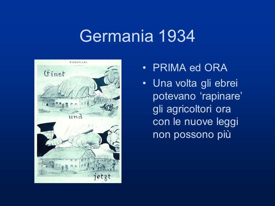Germania 1934 PRIMA ed ORA Una volta gli ebrei potevano rapinare gli agricoltori ora con le nuove leggi non possono più