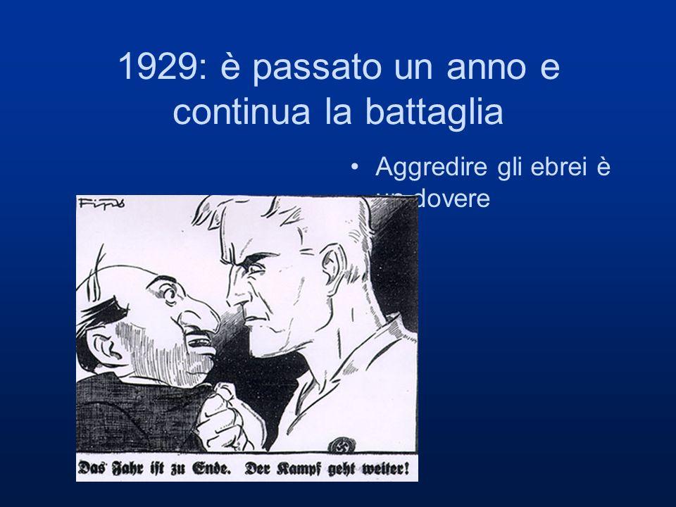 1929: è passato un anno e continua la battaglia Aggredire gli ebrei è un dovere
