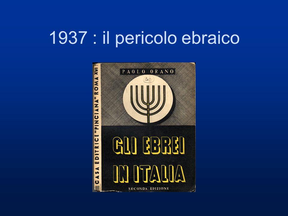 1937 : il pericolo ebraico