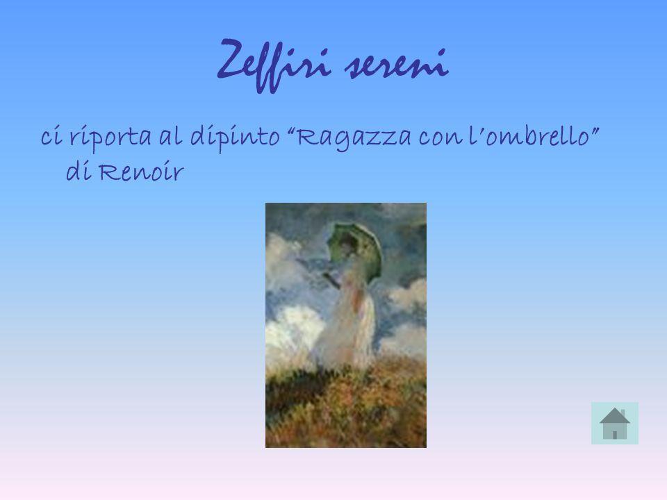 Zeffiri sereni ci riporta al dipinto Ragazza con lombrello di Renoir