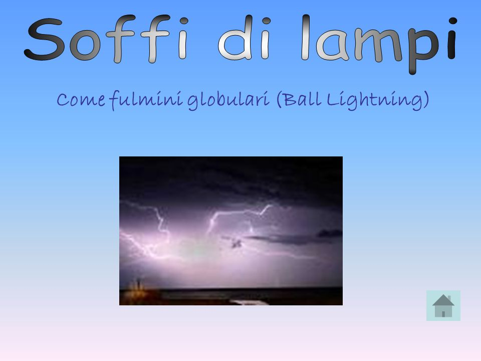 Come fulmini globulari (Ball Lightning)