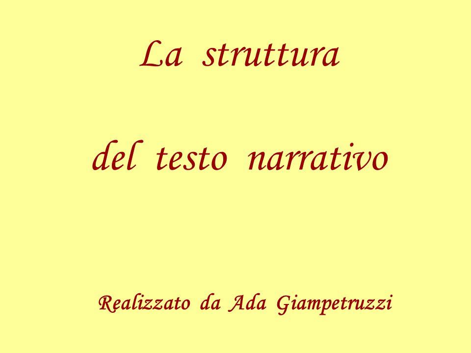 La struttura del testo narrativo Realizzato da Ada Giampetruzzi