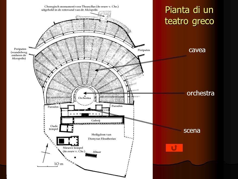 Pianta di un teatro greco cavea orchestra scena