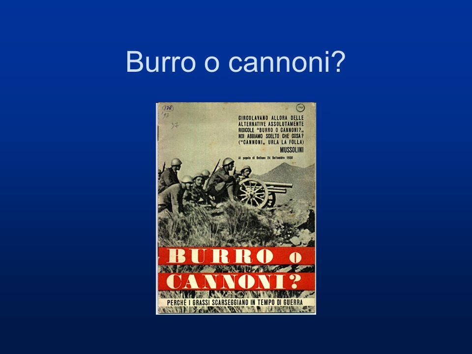 Burro o cannoni?
