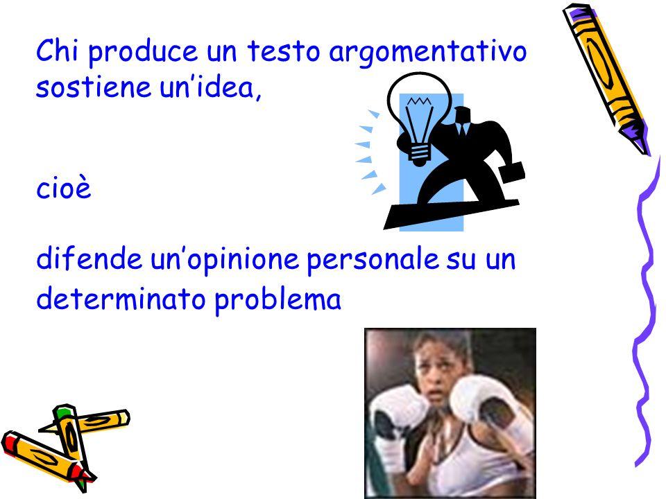 Esercizio 1b Individua la struttura argomentativa del testo, quindi esprimi il tuo parere sullargomento