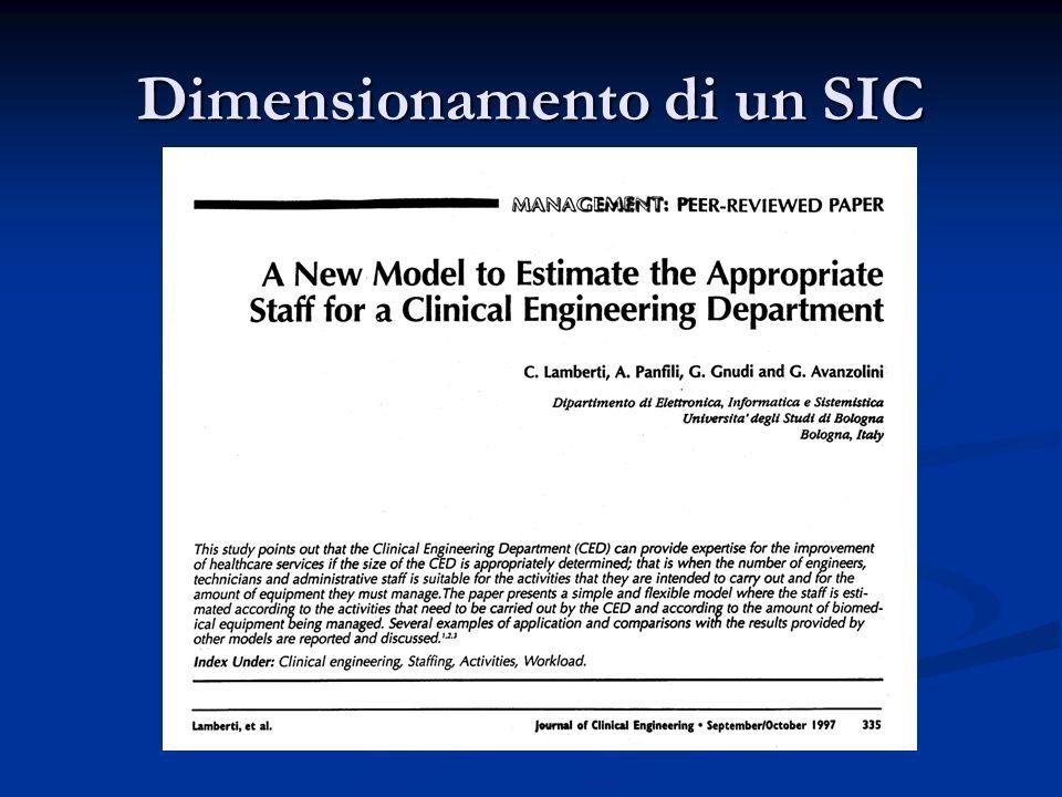 Dimensionamento di un SIC