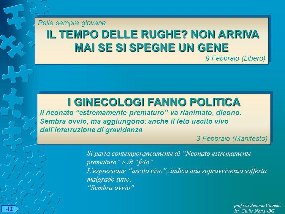 prof.ssa Simona Chinelli Ist.Giulio Natta -BG 42 Pelle sempre giovane.